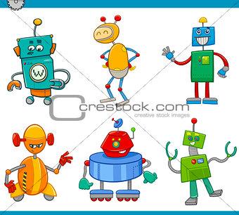 cartoon robot characters set