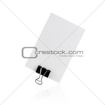 Blank business card on white