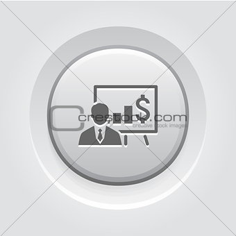 Business Training Icon. Online Learning
