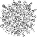 Mandala of fantasy vintage perfumes