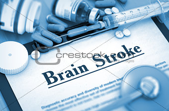 Brain Stroke Diagnosis. Medical Concept.
