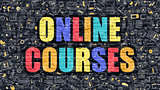 Online Courses on Dark Brick Wall.