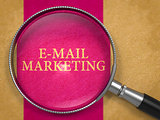 E-mail Marketing through Magnifying Glass.