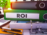 Green Office Folder with Inscription ROI.