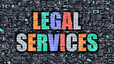 Legal Services in Multicolor. Doodle Design.