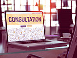 Consultation - Concept on Laptop Screen.