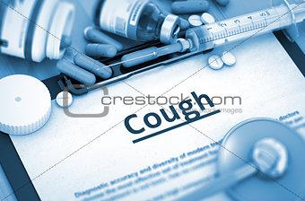 Cough Diagnosis. Medical Concept. 3D.