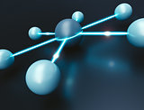 Network Concept. 3d Illustration