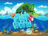 Fish World - Illustration boot screen to the computer game