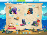 Fish world- example selection of levels for the computer game