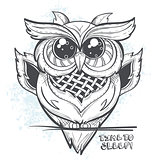 Owl vector illustration - time to sleep