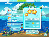 Fish world - Example of window level completion for a computer g