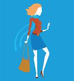 Fashion model girls vector illustration