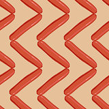 sausage colorful seamless background