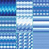 sea waves pattern, summer pattern