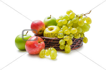 Apples and grapes arrangement
