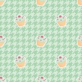 Tile cupcake vector pattern