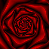 Rose Spiral in Black and Red