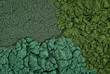 chlorella, spirulina and blue-green