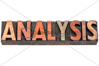 analysis word in wood type