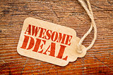 awesome deal sign -  price tag