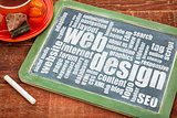 web design and development word cloud