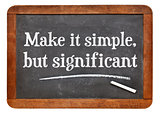 Make it simple - blackboard
