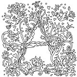 Pattern for coloring book letter a