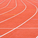 Running track in the stadium