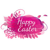 pink floral watercolor letters for easter