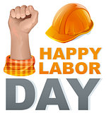 Happy Labor Day. Template greeting card