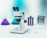 microscope, concept of scientific research