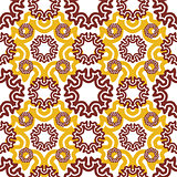 seamless wallpaper. Motley retro repeating pattern. The yellow b
