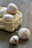 garlic and small basket