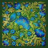 abstract summer floral ornament