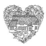 heart. Spring Pattern