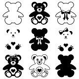 Cute teddy bears icons