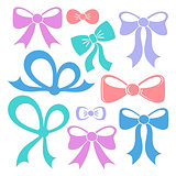 Colorful decorative vector bows