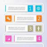Options banners infographic vector design