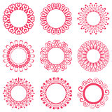 Napkin lace design elements