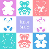 Cute teddy bears icons