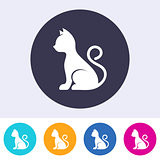 Vector simple cat icon