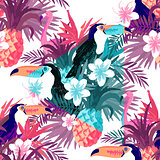 Seamless Tropical Abstract Background