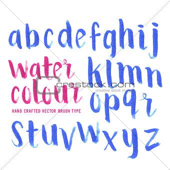 Watercolour Brush Letters
