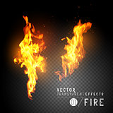 Realistic Vector Fire Flames