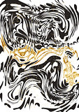 Black and Gold marble Paper