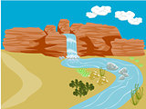 Desert Background Scene