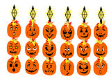 Halloween Solar Light Faces