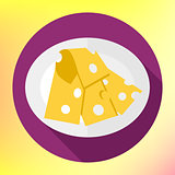 Icon of cut cheese piece.