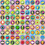 Flat vector icons set collection